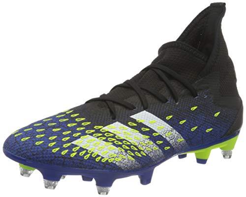 adidas Predator Freak .3 SG, Zapatillas de fútbol Hombre, NEGBÁS/FTWBLA/Amasol, 43 1/3 EU