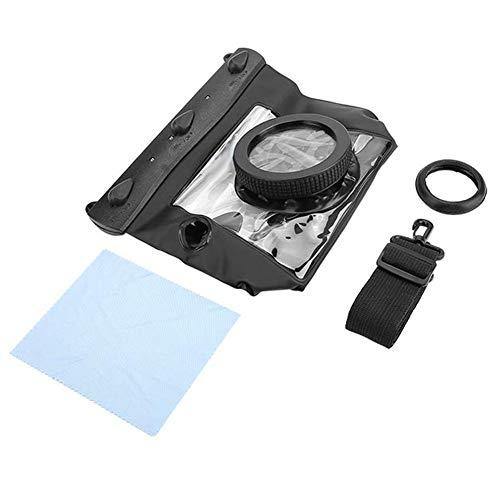 Entatial Estuche Impermeable para Dving, Carcasa para fotografía submarina, Jaula 20M para para Canon para cámaras para para Nikon DSLR(Negro)
