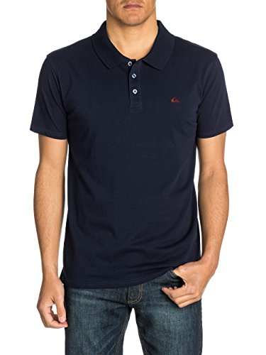 Quiksilver Stokes - Polo - Uni - Manches courtes - Homme - Bleu (Navy Blazer) - Small (Taille fabricant: S)