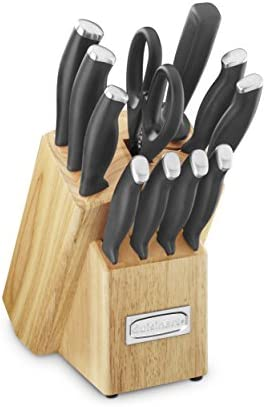 Cuisinart C77SSR-12P Color Pro Collection 12 Piece Knife Block Set, Red