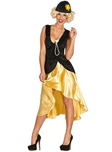 goldenes 20er Jahre Charleston Kleid für Damen Gr. M und L, Größe:L