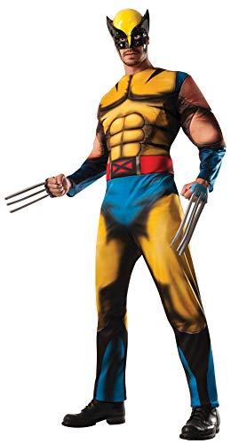 Adult Deluxe Wolverine Fancy Dress Costume Standard