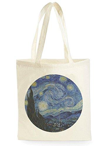 Van Gogh Circle, Einkaufstasche fürs Einkaufen, Picknick, Zuhause, Lagerung und Schule, tote bag
