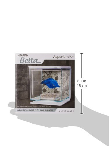 Marina Betta Kit Aquarium für Kampffische, Totenkopf-Design, 2 l - 5