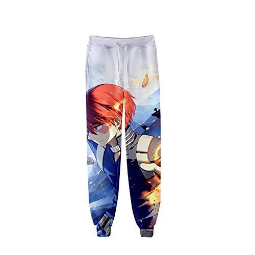 shuihua Hombre Aniime 3D Impreso Boku Sin hroe Academia Cosplay Gimnasio Joggers Pantalones Casuales Pantalones Pantalones Deportivos Sweetpants (Color : 7, Size : 3XL)