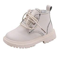 Leder Stiefeletten Kinder Ankle Boots Mädchen Jungen Schnürstiefeletten Mit Reißverschluss Kurze Stiefel Rutschfest Thermostiefel Winter Warm Winterstiefel Freizeitschuhe