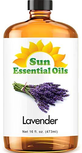 Lavender Essential Oil (Huge 16oz Bottle) Bulk Lavender Oil - 16 Ounce