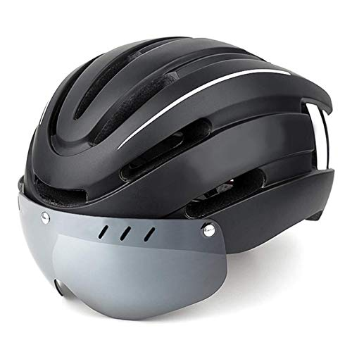 Profesión De Casco De Bicicleta De Montaña Cascos De Bicicletas Mtb Safety Super Light Casco Con Luz De Seguridad Led Y Gafas Magnéticas Desmontables Para Patinetas Protección De Seguridad Scooters