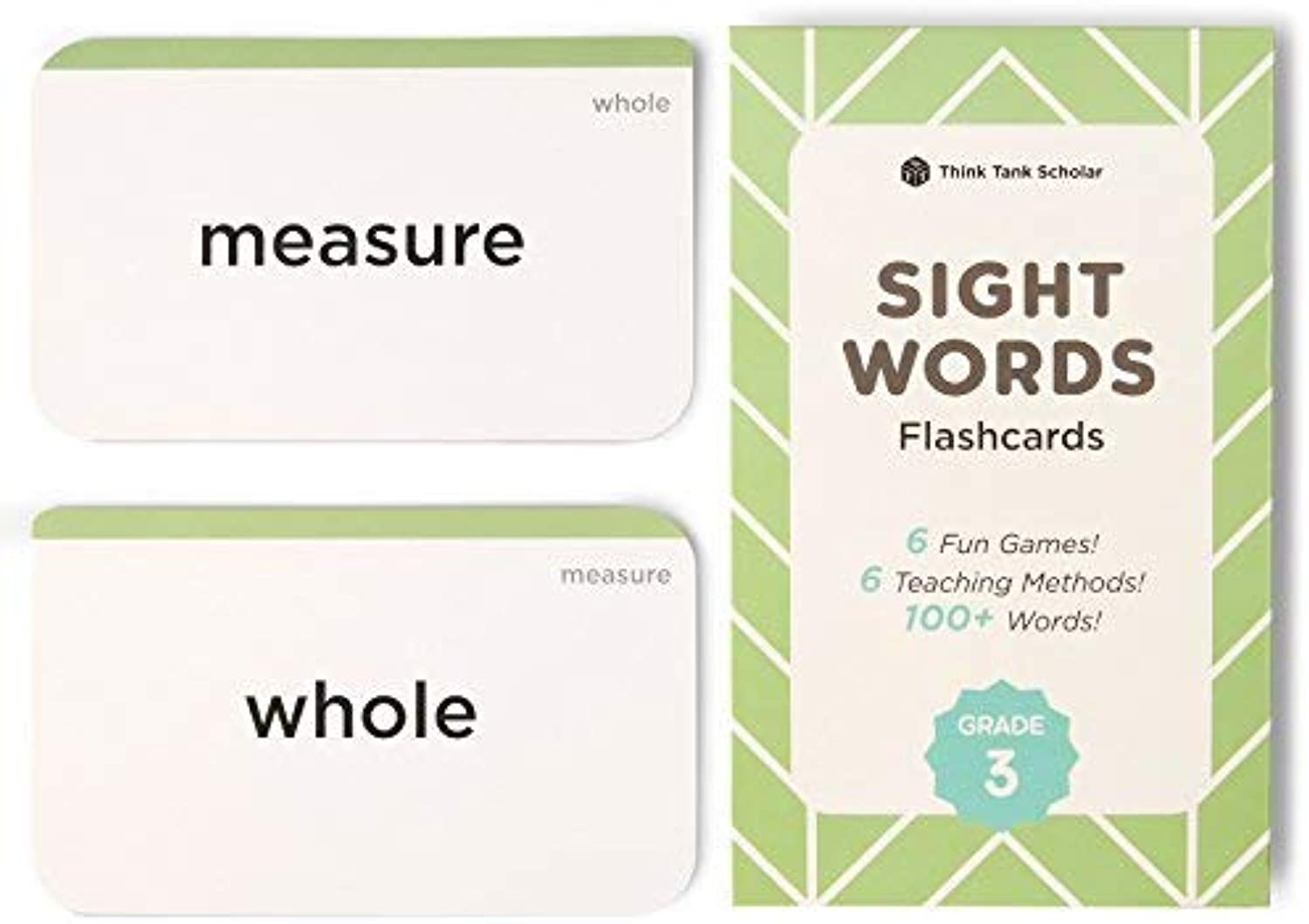 Think Tank Scholar 100+ Third (3rd) Grade Sight Words Flash Cards for Readers Ages 8 to 9 Years Old