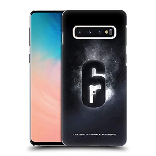 Head Case Designs Officially Licensed Tom Clancy's Rainbow Six Siege Glow Logos Hard Back Case Compatible with Samsung Galaxy S10