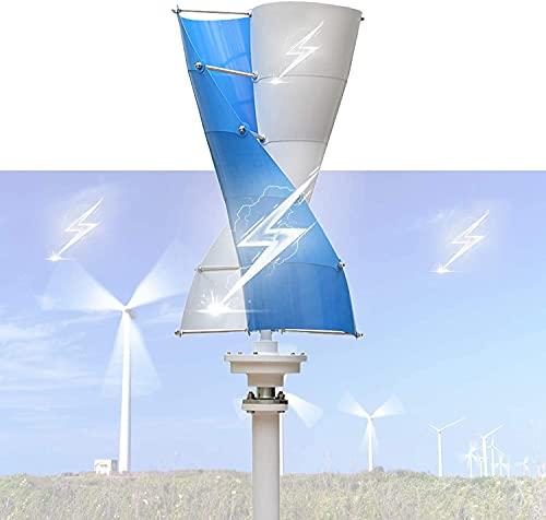 wsbdking Turbinas de Viento Espiral Generador de turbina eólica 1 2V / 24V El Eje Vertical Breeze Comienza el Viento-Solar complementario para el monitoreo doméstico de la lámpara de Calle, 24,300W