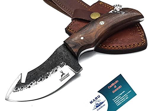 Maru Knives Bushcraft Coltello da Caccia Fatto A Mano Artigianale Manico Legno Coltello Bushcraft Coltello Skinner Coltello da Caccia Coltello Lama Fissa