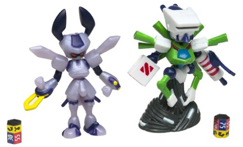Medabots Rokusho vs Robo-Emperor Figures With Game Card & Die, Collectible