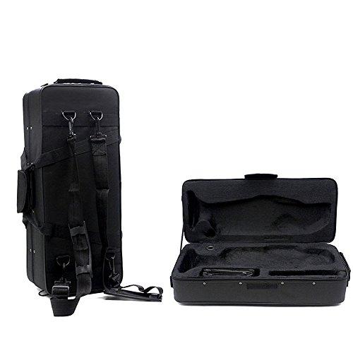 COLIBROX New Fashionable Musical Trumpet Hard Case Big Bag Case Black