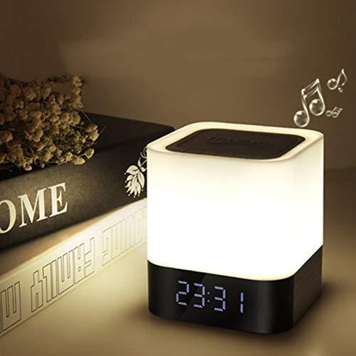 XQDSP LED creatief Bluetooth audio nachtlicht romantisch draadloze bureaulamp slaapkamer nacht wekker luidspreker muziek meisje