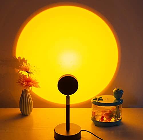 Sunset Lamp, Sunset Projection Lamp,USB Sunset Lamp LED Proyector Lamp,360 Sunset Light Projector, Aplicar para vivienda Decoración Romántica Ambiente Dormitorio(atardecer)