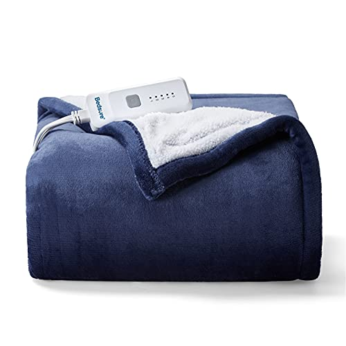 Bedsure Heated Blanket Electric Throw - Soft Electric...