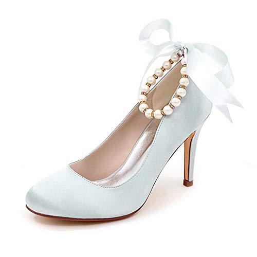 LGYKUMEG Zapatos de Novia, Tacones Altos para Mujer, Zapatos de Boda para...