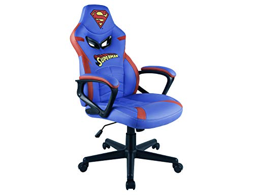 Subsonic Superman - Silla gaming junior - asiento gamer para escritorio - sillon de oficina - Licencia oficial DC comics (PS4)