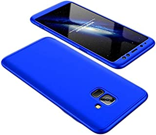 Samsung Galaxy A8 Case,Fashion ultra Slim Gkk 360 Full Protection Cover Case - Blue