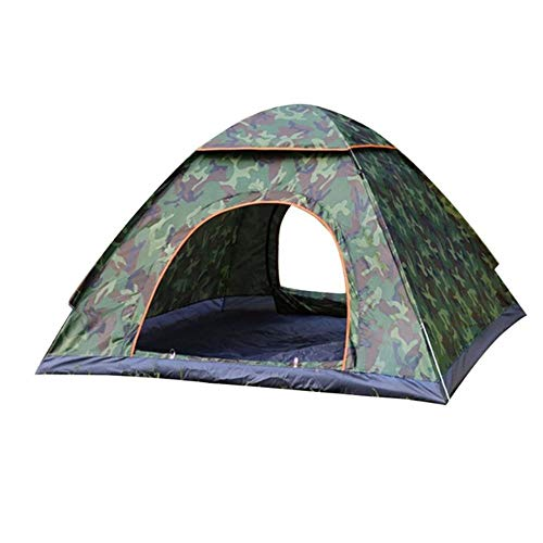 Xuzheng 3-4 personas portátil al aire libre tienda plegable, impermeable automática instantánea camping senderismo pesca viaje tienda, anti UV sombra solar, camuflaje
