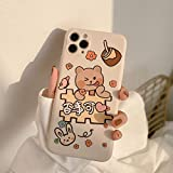 Cute Clear Cartoon Rabbit Bear Korean Phone Case for iPhone 12 11 Pro Max Xr X Xs Max 7 8 Plus SE 2020 Cases Soft TPU Coverr-MANAPIXEL