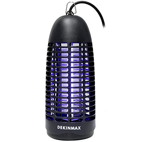 DEKINMAX Elektrischer Insektenvernichter, UV Insektenvernichter Mückenfalle Fliegenfalle Insektenfalle Insektenvernichter Elektrisch Für Innen und Außeneinsatz Schlafzimmer Gärten