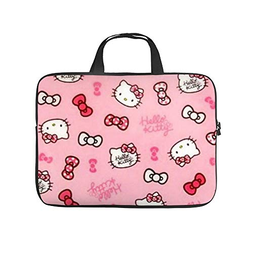 Neoprene Sleeve Laptop Handle Bag Handbag Notebook Case Cover Hello Kitty Portable MacBook Laptop/Ultrabooks Case Bag Cover 15 Inch