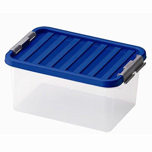 Heidrun Europlastic Behältnis Systembox mit Deckel, Transparent, 34x23x16 cm