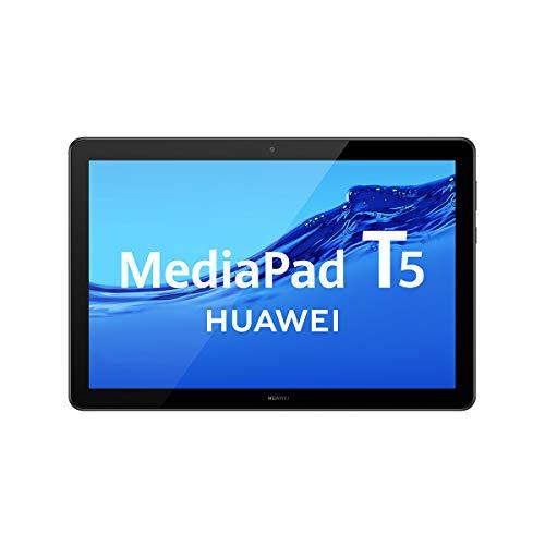 """HUAWEI MediaPad T5 - Tablet de 10.1"""" FullHD IPS (WiFi, Procesador Octa-Core Kirin 659, 2GB de RAM, 16GB de Memoria Interna), SATA, Android 8.0, Color Negro"""