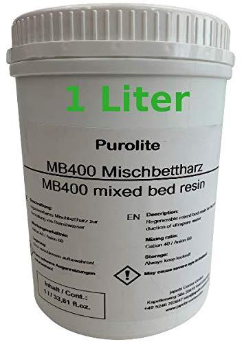 Purolite 1L Mischbettharz MB 400 Vollentsalzer Ionenaustauscherharz, Neuware
