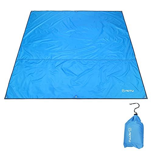 ZXCVB Alfombrilla de pícnic de tela para camping, playa, para exteriores, color azul, verde hierba, verde militar, S (220 x 150 cm) M (220 x 180 cm) de largo x 220 x 240 cm
