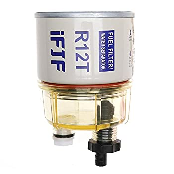 iFJF R12T Fuel Filter/Water Separator 120AT NPT ZG1/4-19 Automotive Parts with Fitting -Complete Combo Filter Diesel Engine  R12T Filter