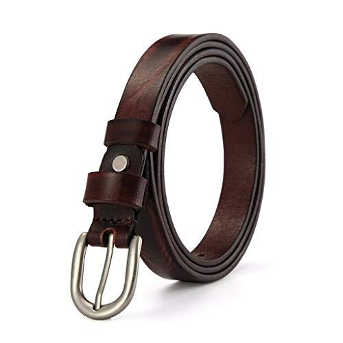 Cintura Casual Ideale per jeans Moda donna retrò fibbia ad ardiglione in puro stile da donna 115cm marrone