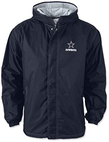 Dunbrooke NFL Dallas Cowboys Legacy Nylon Hooded Jacket, Medium, Navy