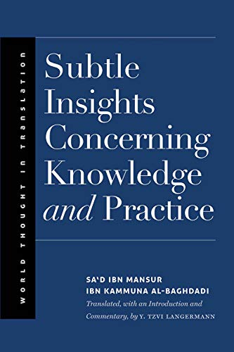 Subtle Insights Concerning Knowledge and Practice (World Thought in Translation)