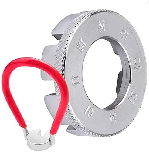6 en 1 Herramienta de llave de lona de spa para bicicletas Spriba portavasos de ruedas de bicicleta llave herramienta de lappas de lappas de bicicleta 10-15 calibre para vehículo eléctrico de biciclet