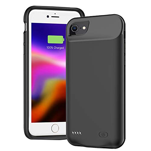 Battery Case for iPhone 8/7/6s/6/SE 2020(2nd Generation),6000mAh Portable Charger Case Rechargeable Battery Pack Charging Case Compatible with iPhone SE 2020(2nd Generation)/8/7/6s/6 (4.7 inch)-Black