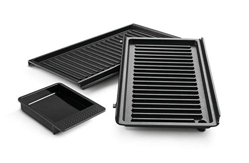 Set Grillplatten 5523110001 DLSK153 kompatibel / Ersatzteil für De'Longhi SW12 SW13 MultiGrill Easy