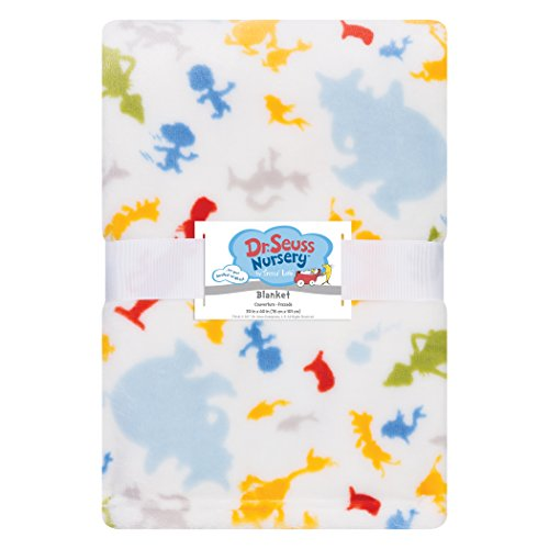 Trend Lab Plush Baby Blanket, Multi Dr. Seuss Friends