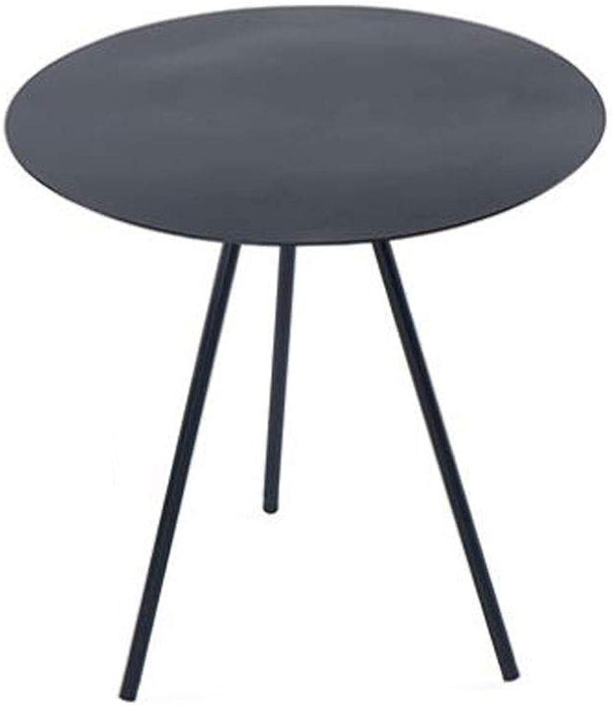ACZZ Table d'appoint pour canapé, petite table d'appoint pour table d'appoint en métal moderne, décor polyvalent facile à assembler, intérieur et extérieur,50CM