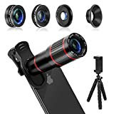 MACTREM Phone Camera Lens, 4 in 1 Cell Phone Lens Kit – 20x