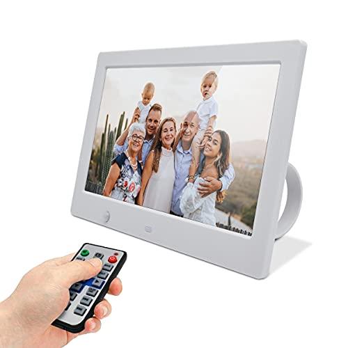 FOTOMOON 10 inch Digital Picture Frame, HD 1280x600 Digital Photo Frame, Electronic Picture Frame with Motion Sensor and Digital Calendar, Perfect Grandparent Gift