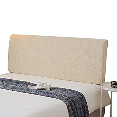 ✿ Material: Esta funda para la cabecera de la cama está hecha de tela de vellón polar de alta calidad, suave y agradable para la piel, buena elasticidad, transpirable, resistente a la contaminación, mano de obra fina, duradera y proporciona una buena...