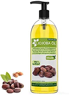 Aceite de jojoba prensado en frío de oro de 1 litro (1000