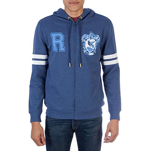 Harry Potter Ravenclaw Zip-up Hoodie Sweatshirt-Large