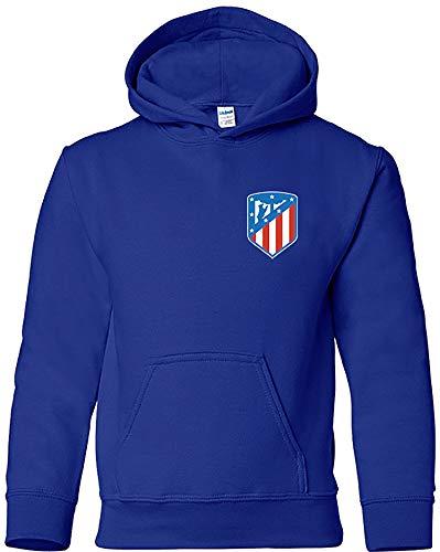 Sudadera Escudo Nuevo Adulto/Niño Camisetas del Atleti Colchoneras Rojiblancos ATM (9-11 años, Azulón)