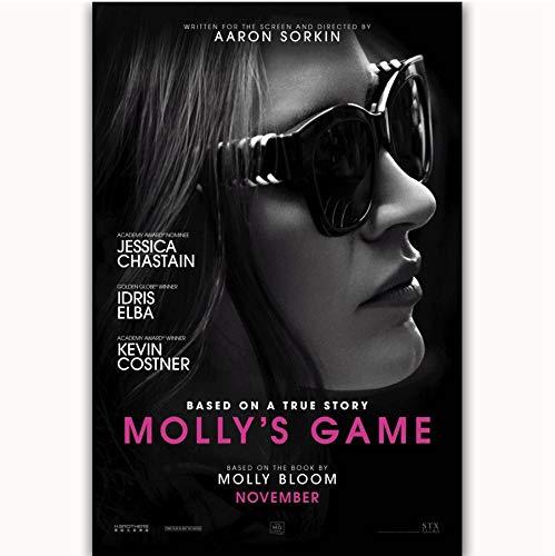 JCYMC Toile Photo Film 2017 Jeu De Molly Jessica Chastain Affiche Printwall Art Photo Décor À La Maison Lz6Kx 40X60Cm sans Cadre