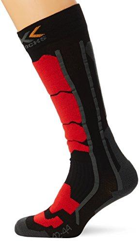 X-Socks Control Chaussettes de ski Noir/Rouge FR : 45-47 (Taille Fabricant : 45-47)