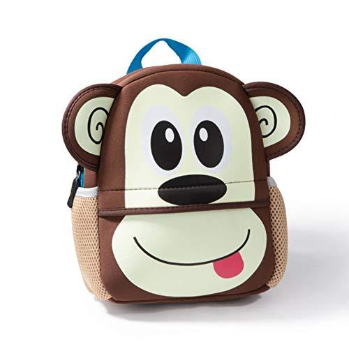 UKKD School bags Children Backpacks 3D Giraffe Design Girl Boys School Bags Toddler Kids Neoprene Schoolbag Kindergarten,A